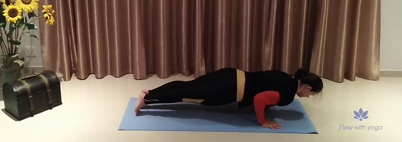 Chaturanga Dandasana-Four Limb Staff Pose