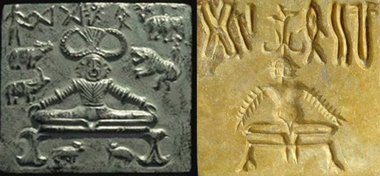 Stone Seal with Figure in Yogic Posture